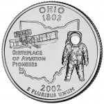 2002 50 State Quarters Coin Ohio Uncirculated Reverse
