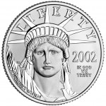 2002 American Eagle Platinum One Ounce Bullion Coin Obverse