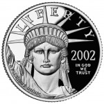 2002 American Eagle Platinum Tenth Ounce Proof Coin Obverse