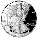 2002 American Eagle Silver One Ounce Proof Coin Obverse