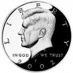 2002 Kennedy Half Dollar Proof Obverse San Francisco
