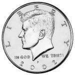 2002 Kennedy Half Dollar Uncirculated Obverse Philadelphia