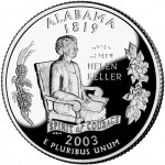 2003 50 State Quarters Coin Alabama Proof Reverse