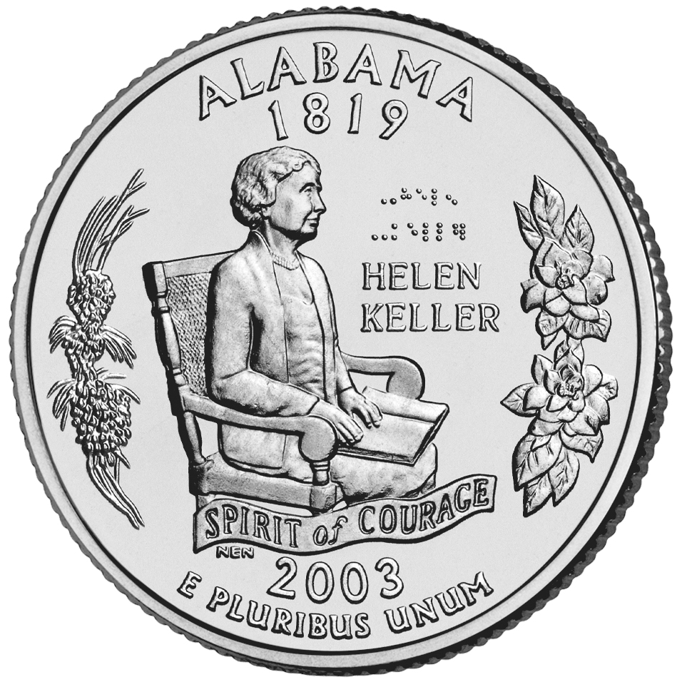 2003 50 State Quarters Coin Alabama Uncirculated Reverse