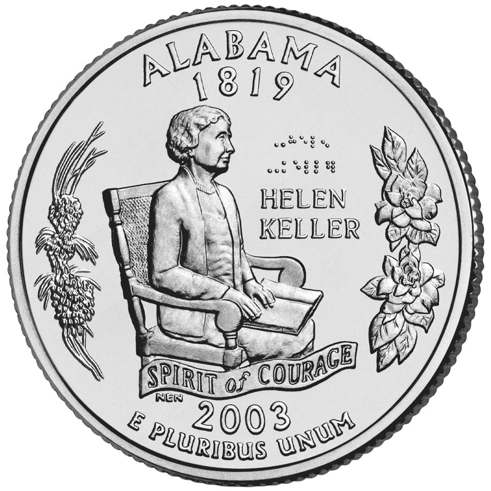 2003 50 State Quarters Coin Alabama Uncirculated Reverse
