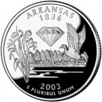2003 50 State Quarters Coin Arkansas Proof Reverse