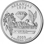 2003 50 State Quarters Coin Arkansas Uncirculated Reverse