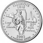2003 50 State Quarters Coin Illinois Uncirculated Reverse