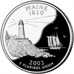 2003 50 State Quarters Coin Maine Proof Reverse
