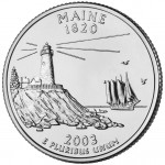2003 50 State Quarters Coin Maineuncirculated Reverse