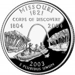 2003 50 State Quarters Coin Missouri Proof Reverse