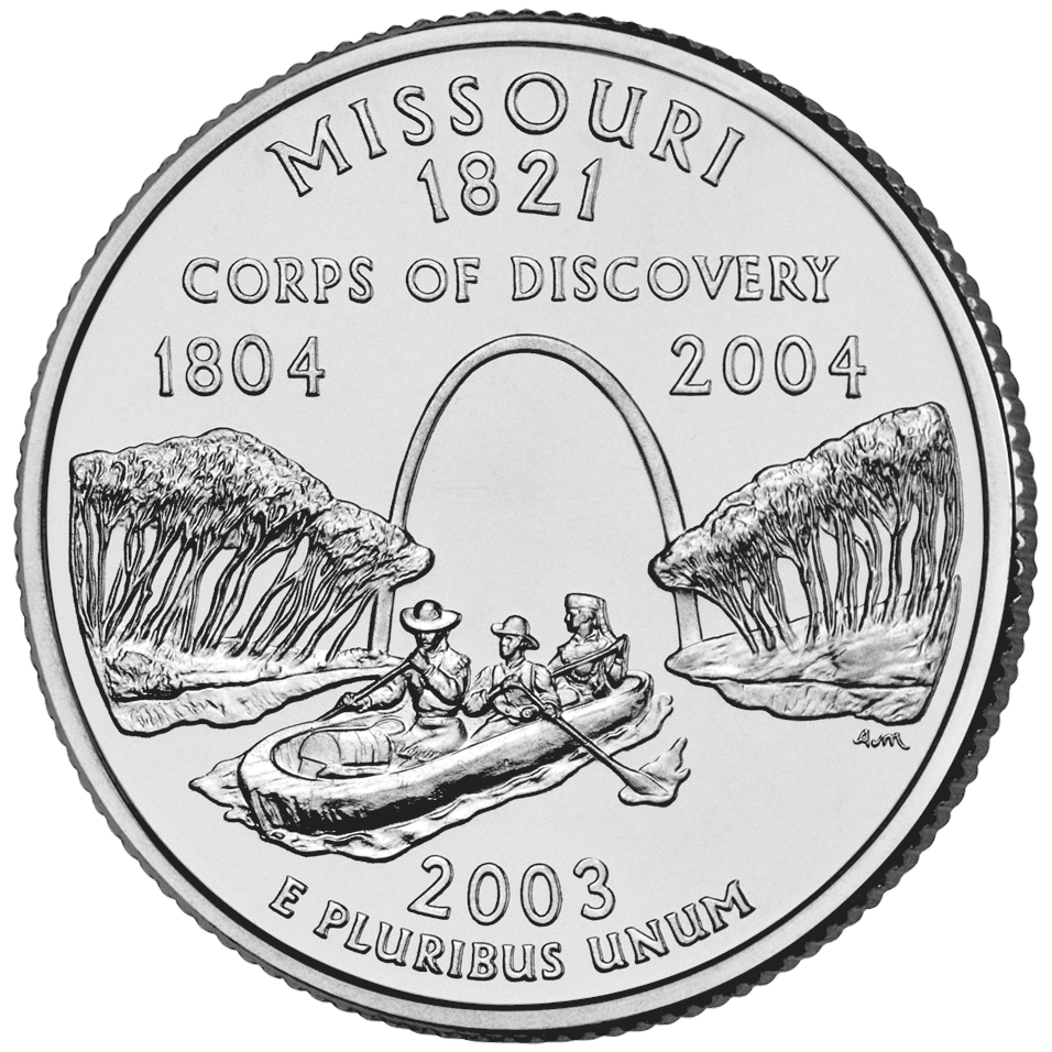 2003 50 State Quarters Coin Missouri Uncirculated Reverse