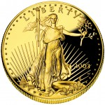 2003 American Eagle Gold One Ounce Proof Coin Obverse
