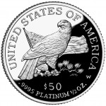 2003 American Eagle Platinum Half Ounce Proof Coin Reverse