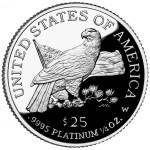 2003 American Eagle Platinum Quarter Ounce Proof Coin Reverse
