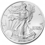 2003 American Eagle Silver One Ounce Bullion Coin Obverse
