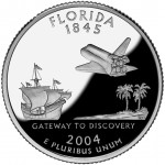 2004 50 State Quarters Coin Florida Proof Reverse