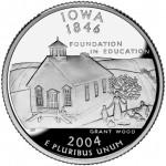 2004 50 State Quarters Coin Iowa Proof Reverse