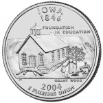 2004 50 State Quarters Coin Iowa Uncirculated Reverse