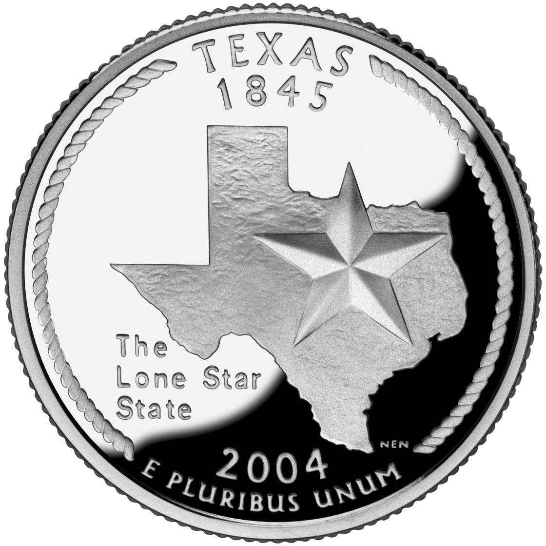 2004 50 State Quarters Coin Texas Proof Reverse