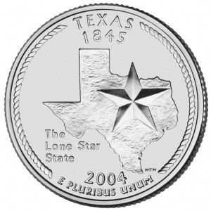 2004 50 State Quarters Coin Texas Uncirculated Reverse