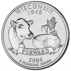 2004 50 State Quarters Coin Wisconsin Uncirculated Reverse