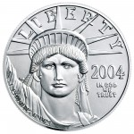 2004 American Eagle Platinum One Ounce Bullion Coin Obverse
