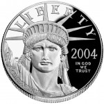 2004 American Eagle Platinum One Ounce Proof Coin Obverse