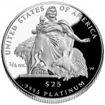 2004 American Eagle Platinum Quarter Ounce Proof Coin Reverse