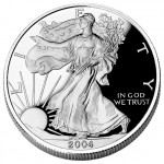 2004 American Eagle Silver One Ounce Proof Coin Obverse