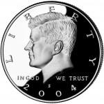 2004 Kennedy Half Dollar Proof Obverse San Francisco