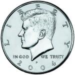 2004 Kennedy Half Dollar Uncirculated Obverse Philadelphia
