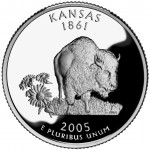 2005 50 State Quarters Coin Kansas Proof Reverse