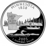 2005 50 State Quarters Coin Minnesota Proof Reverse