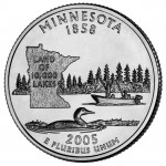 2005 50 State Quarters Coin Minnesota Uncirculated Reverse