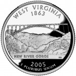 2005 50 State Quarters Coin West Virginia Proof Reverse