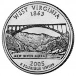 2005 50 State Quarters Coin West Virginia Uncirculated Reverse