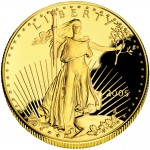 2005 American Eagle Gold One Ounce Proof Coin Obverse