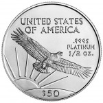2005 American Eagle Platinum Half Ounce Bullion Coin Reverse