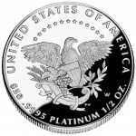 2005 American Eagle Platinum Half Ounce Proof Coin Reverse