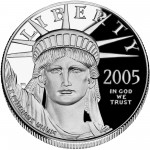 2005 American Eagle Platinum One Ounce Proof Coin Obverse