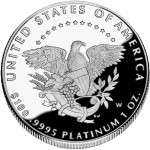 2005 American Eagle Platinum One Ounce Proof Coin Reverse