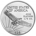 2005 American Eagle Platinum Quarter Ounce Bullion Coin Reverse