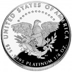 2005 American Eagle Platinum Quarter Ounce Proof Coin Reverse