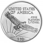 2005 American Eagle Platinum Tenth Ounce Bullion Coin Reverse
