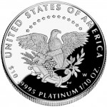 2005 American Eagle Platinum Tenth Ounce Proof Coin Reverse