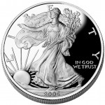 2005 American Eagle Silver One Ounce Proof Coin Obverse