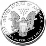 2005 American Eagle Silver One Ounce Proof Coin Reverse