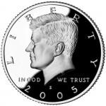 2005 Kennedy Half Dollar Proof Obverse San Francisco