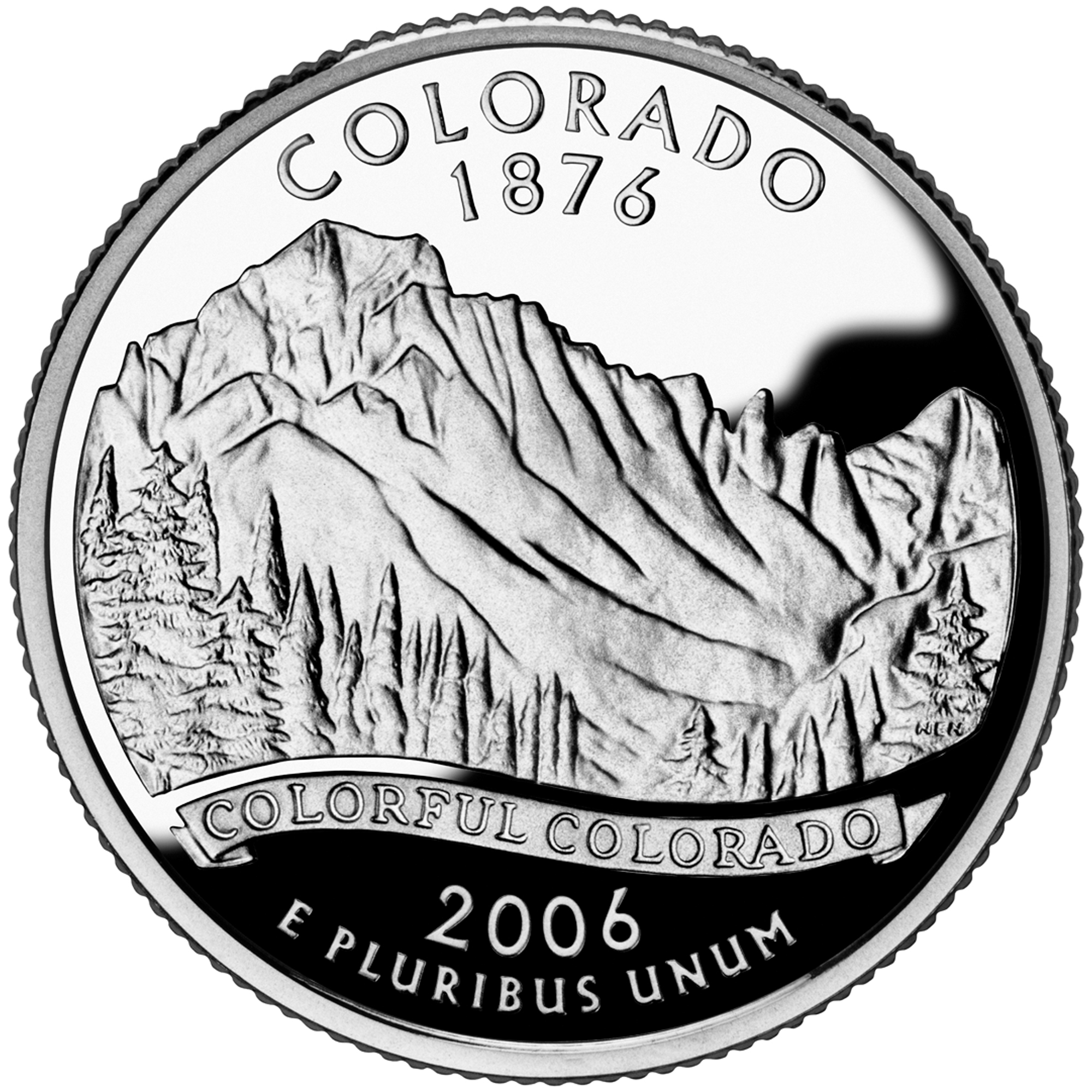 2006 50 State Quarters Coin Colorado Proof Reverse